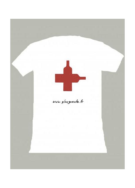 Glougueule Homme Rouge pour Tshirt Croix Blanc nwPxqZ6aa