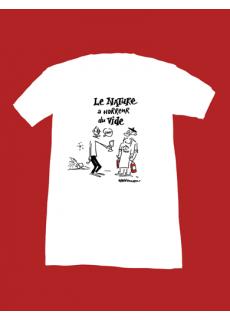 """Tshirt """"Le Nature a Horreur du Vide"""" X Lefred Thouron"""
