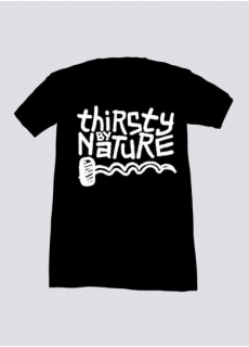 Tshirt Thirsty By Nature Noir Homme