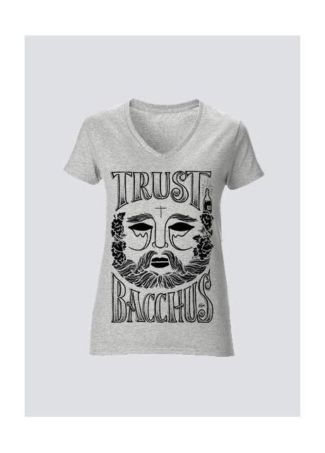 Tshirt Trust Bacchus Gris femme