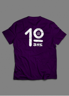 Tshirt 10 Ans Violet Homme