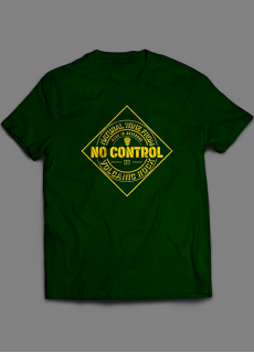 Tshirt No Control Volcanic Rock Homme